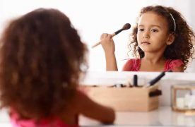 Is makeup bad for children's skin?