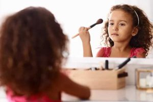 Is makeup bad for children's skin?